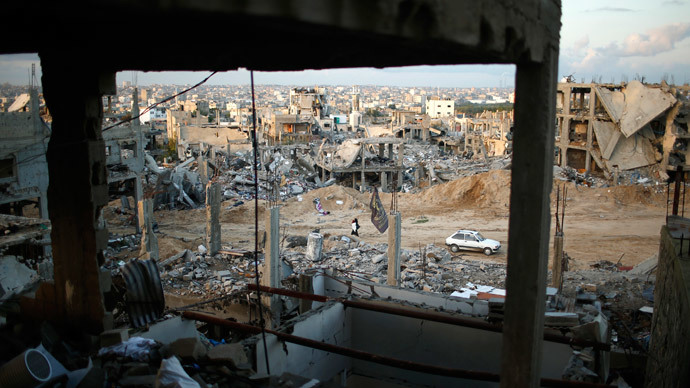 A general view shows the ruins of houses which witnesses said were destroyed by Israeli shelling during the most recent conflict between Israel and Hamas, in the east of Gaza City December 1, 2014.(Reuters / Mohammed Salem )
