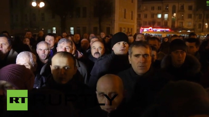 Protests flare up in central Ukraine, calls for regional council to resign
