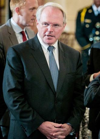 Former U.S. Ambassador to Iraq Christopher Hill.(AFP Photo / T.J. Kirkpatrick)