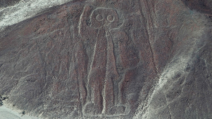Astronaut Nazca Lines in the Nazca.(Reuters/Enrique Castro-Mendivil)