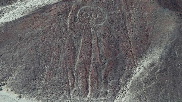Astronaut Nazca Lines in the Nazca.(Reuters/Enrique Castro-Mendivil)