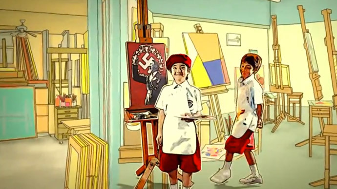 Can you paint Hitler? Applause! Thailand shocked by 'student core values' video