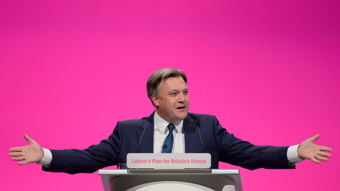 Britain's Shadow Chancellor Ed Balls (AFP Photo/Leon Neals)