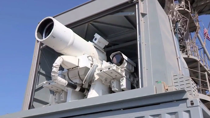 Not Sci-Fi anymore: Navy's 'fully operational' laser gun blows up boats, drones (VIDEO)