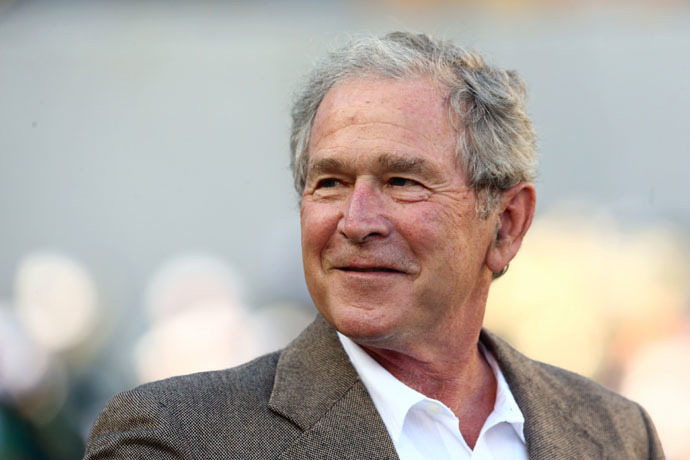 Former U.S. President George W. Bush (AFP Photo)