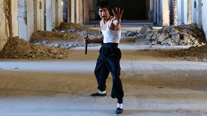 Afghan 'Bruce Lee' spins the web with his kung fu