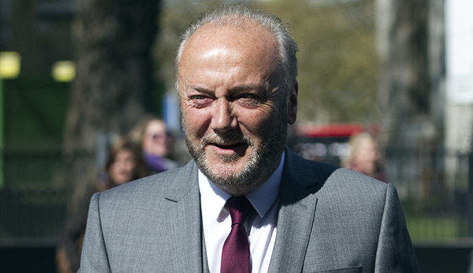 British member of parliament George Galloway of Respect Party (AFP Photo / Miguel Medina)