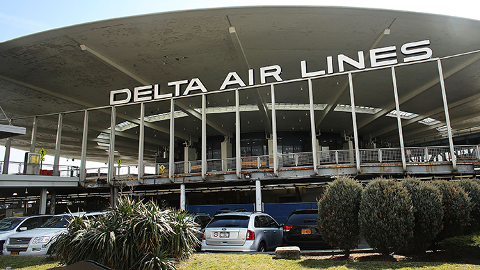Delta Airlines employee fired for protesting low wages