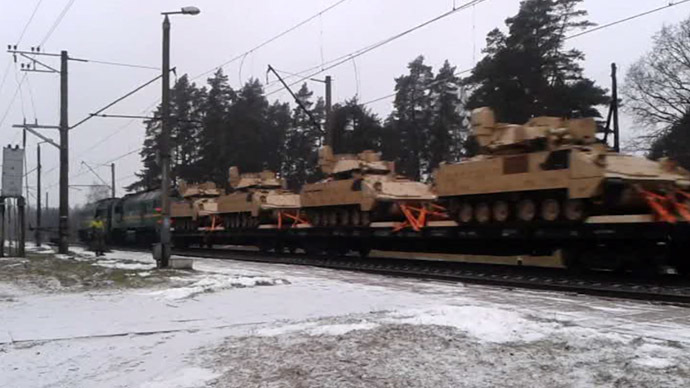 Move your arsenal! US tanks, APCs, Humvees roll through Latvia (VIDEO, PHOTOS)