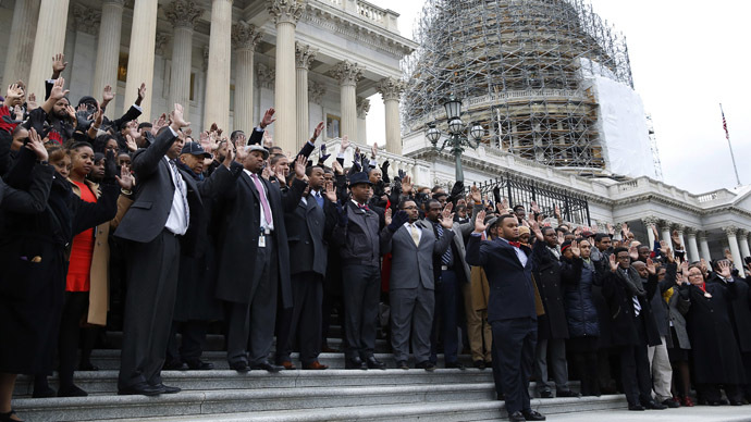 150 Congressional staff protest killings of unarmed African-Americans