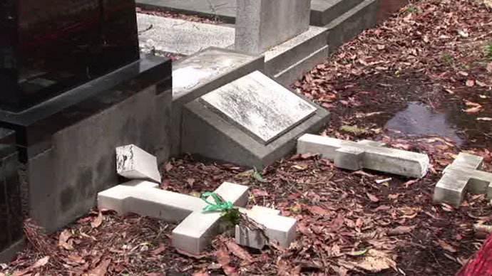 Dozens of graves, mostly Russian and Serbian, damaged by vandals in Sydney (VIDEO)