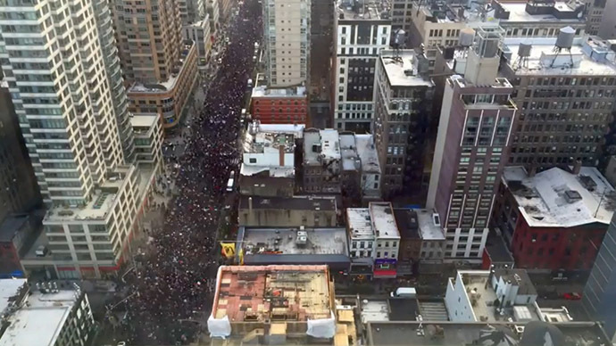 Time-lapse video shows incredible turnout at 'Millions March' in NYC