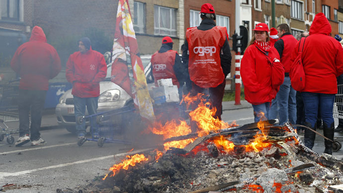Belgium paralyzed in biggest transport strike in years