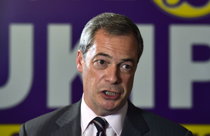 UK Independence Party (UKIP) party leader Nigel Farage (AFP Photo)