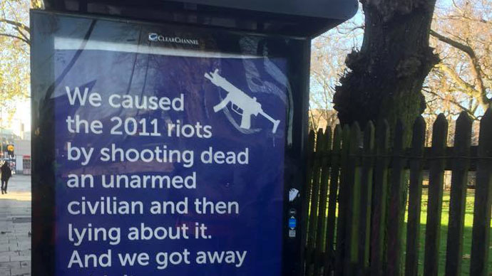 Counter-propaganda! Anti-police posters skewer London Met 'racism'