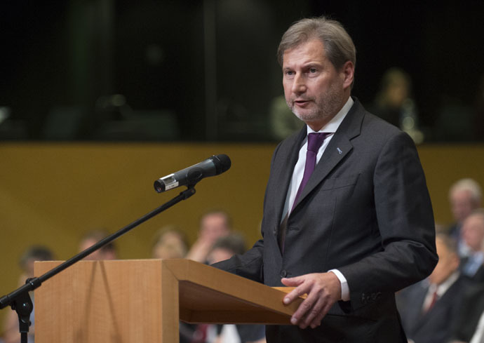 EU Commissioner of European Neighbourhood Policy and Enlargement Negotiations Johannes Hahn (AFP Photo)