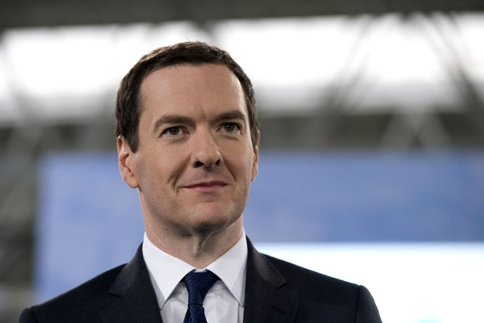 Britain's Chancellor of the Exchequer George Osborne (AFP Photo)