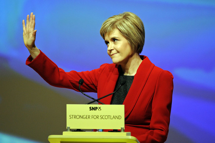 SNP leader Nicola Sturgeon (AFP Photo)