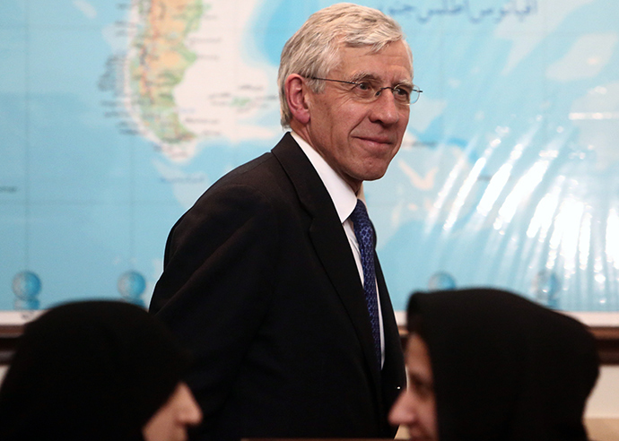 Former British foreign secretary Jack Straw (Reuters)