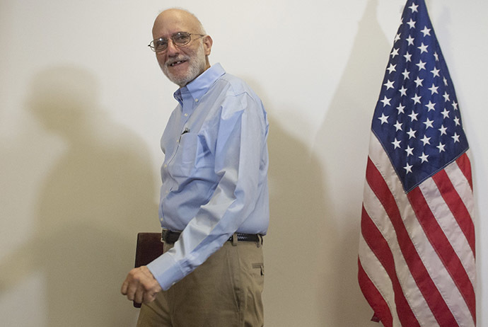 Alan Gross, leaves following a press conference after being released by Cuba on December 17, 2014 in Washington,DC. (Reuters/Saul Loeb)
