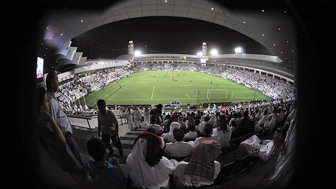 Qatar hires '$8 fake fans' to fill empty stadiums