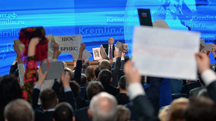'Can't stuff this bear' & other Putin Q&A quotes