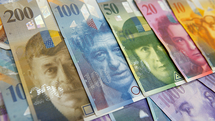Swiss central bank turns to negative interest rate amid ruble crisis
