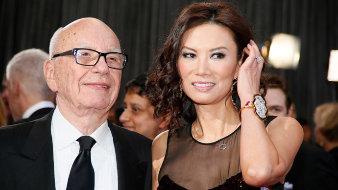Rupert Murdoch, chairman and CEO of News Corporation, with ex-wife Wendi Deng.(Reuters / Lucy Nicholson)