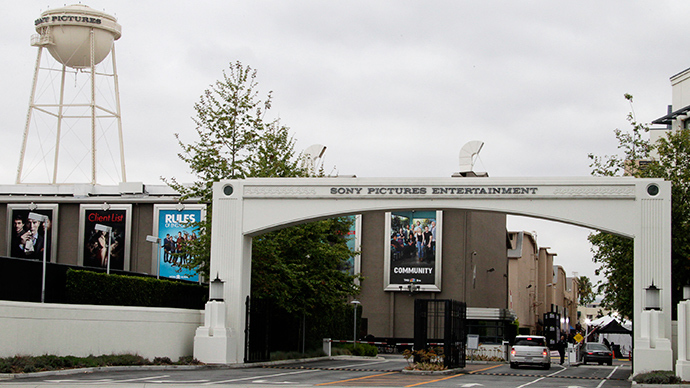 An entrance gate to Sony Pictures Entertainment at the Sony Pictures lot is pictured in Culver City, California (Reuters / Fred Prouser)