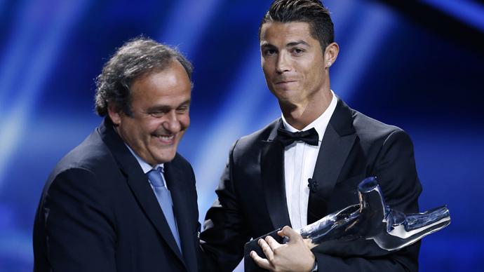 Ronaldo snubs UEFA chief at World Club Cup final presentation