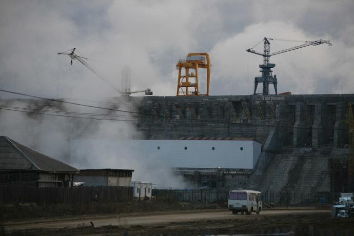 A view of the Boguchany Hydroelectric Station on the Angara River. (RIA Novosti/Alexandr Kryazhev)