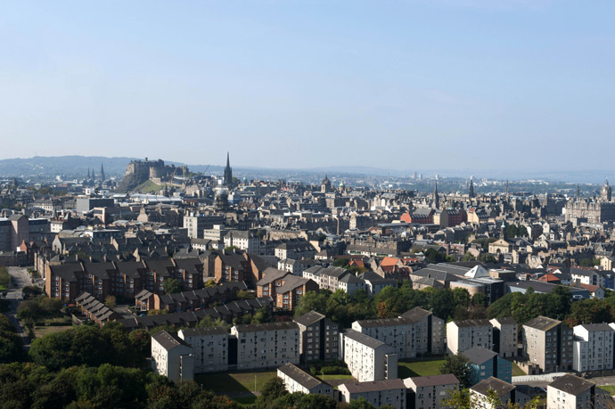 A picture taken from Salisbury Crags shows a general view of Edinburgh. (AFP Photo/Lesley Martin)