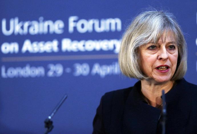 Britain's Home Secretary Theresa May (AFP Photo/Andrew Winning)
