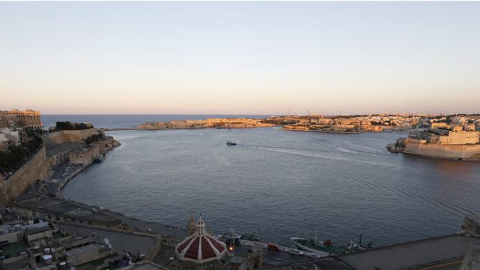 A ship sails in Valletta's Grand Harbour. (Reuters/Darrin Zammit Lupi)