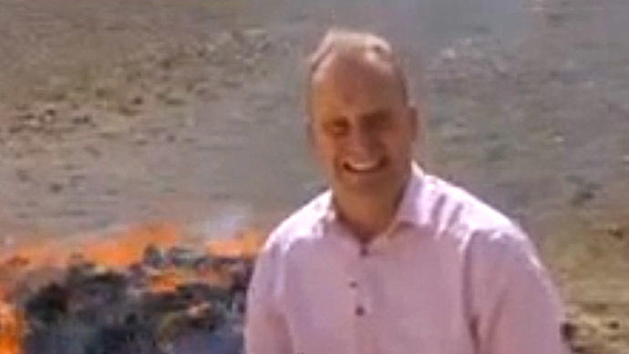 BBC reporter gets high on camera, can't finish report