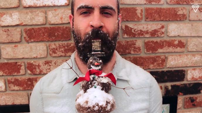 Christmas beard: Facial hair fashion taken to extreme by US artist (PHOTOS)