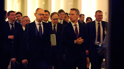 'Difficult' new Ukraine peace talks begin in Minsk as Kiev sets course for NATO