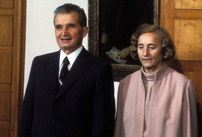 Nicolae and Elena Ceausescu (Photo from touristinromania.net)