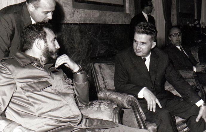 Nicolae Ceausescu and Fidel Castro (iiccr.ro/#AA052)