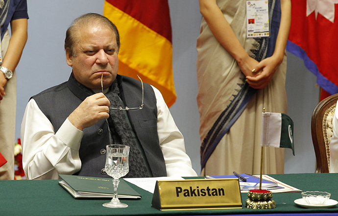 Pakistan's Prime Minister Nawaz Sharif (AFP Photo)