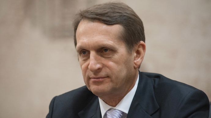 Russian State Duma speaker Sergei Naryshkin.(RIA Novosti / Mihail Mokrushin)