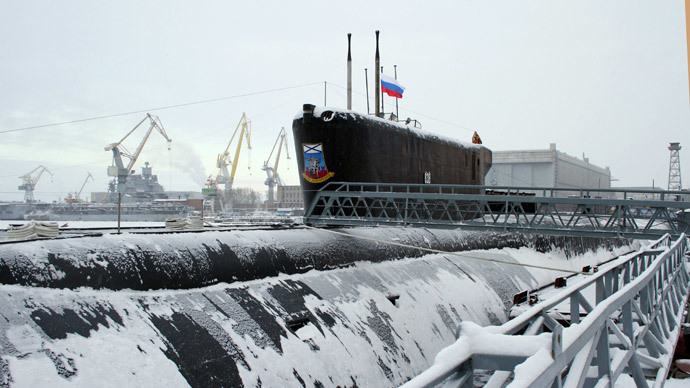 The Yury Dolgoruky nuclear-powered submarine.(RIA Novosti / Pavel Kononov)