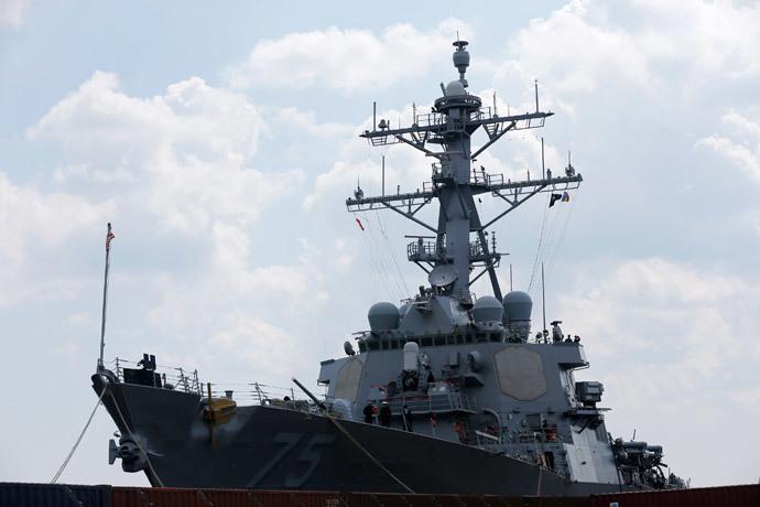 USS Donald Cook.(Reuters / Bogdan Cristel)