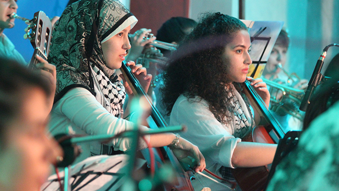 'Here there's peace, not war': A look inside a Gaza music school