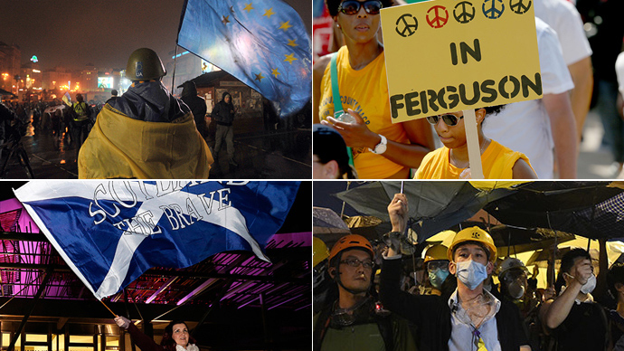 Protesting across the globe: What took people to the streets in 2014