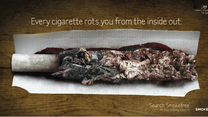 'Rotting the body from the inside out': Graphic anti-smoking campaign