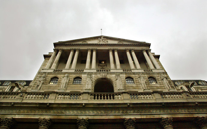 The Bank of England building in London (AFP Photo/Adrian Dennis)