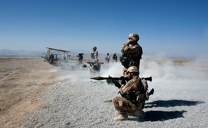 Soldiers from the 4th Rapid Brigade of ISAF Czech contingent based in Chrudim, Czech Republic in Camp Altimur in Logar province (Reuters)