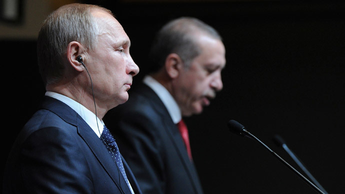 Russia's President Vladimir Putin (L) is pictured during a joint news conference with his Turkish counterpart Tayyip Erdogan in Ankara December 1, 2014.(Reuters / Mikhail Klimentyev)