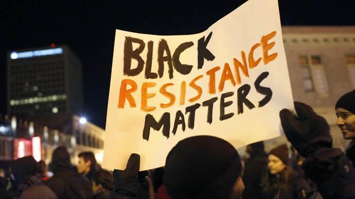 Protesters mark New Year with 'Black Lives Matter' marches across US